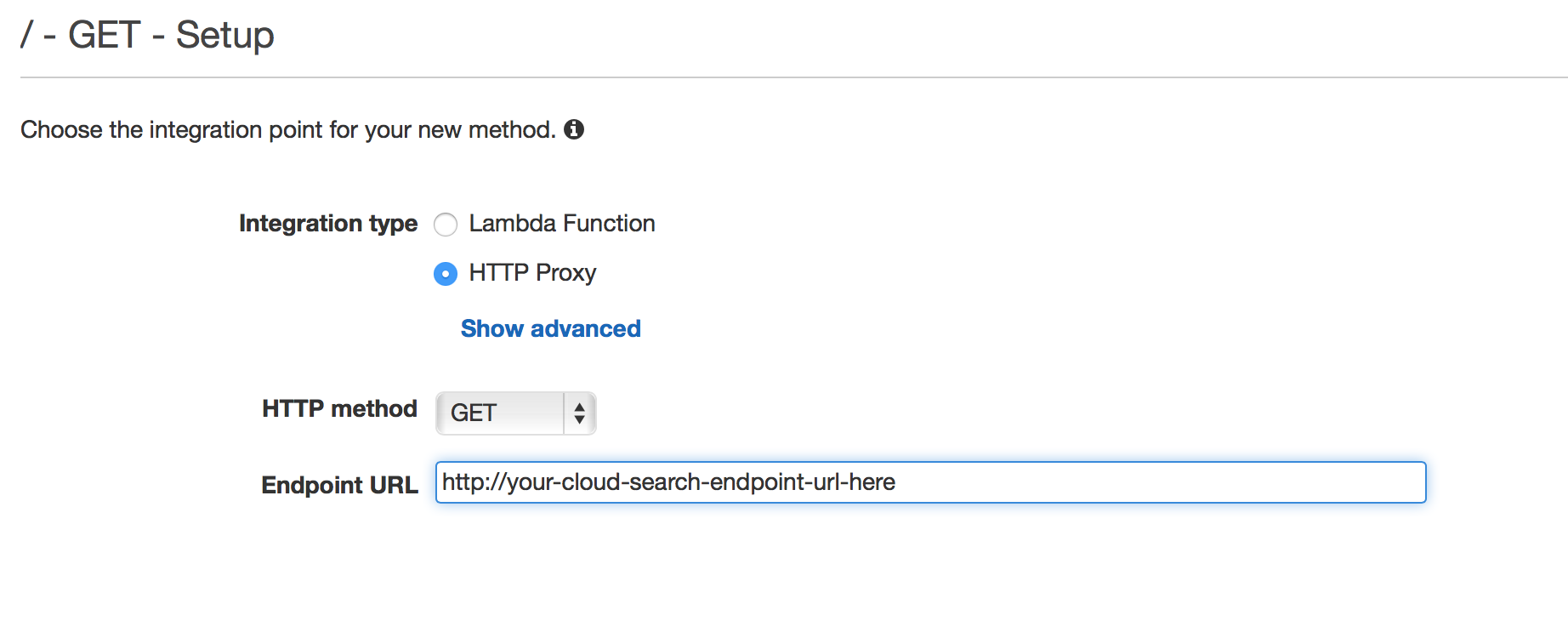 Using AWS API Gateway to Enable CORS for Cloud Search